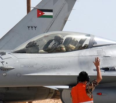 الاردن - تحطم طائرة حربية فوق الاراضي السعودية ونجاة قائدها
