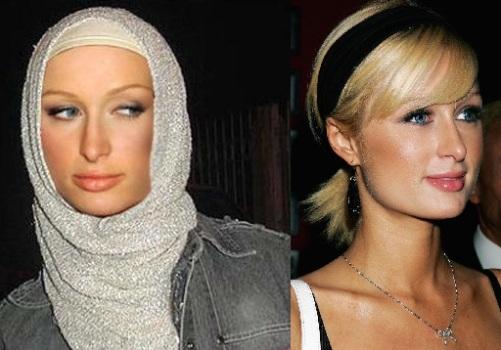 باريس هيلتون بالحجاب الاسلامي