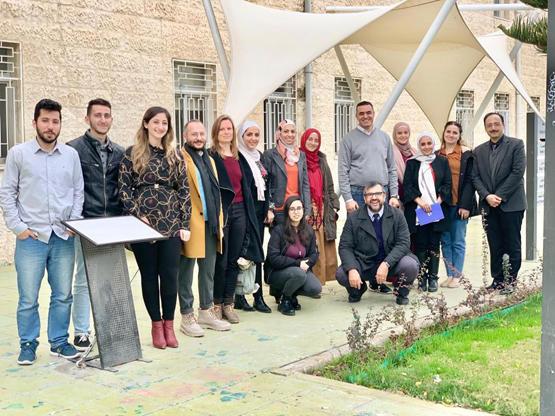 وفدً من المركز الثقافي الألماني (جوته) يزور جامعة البترا