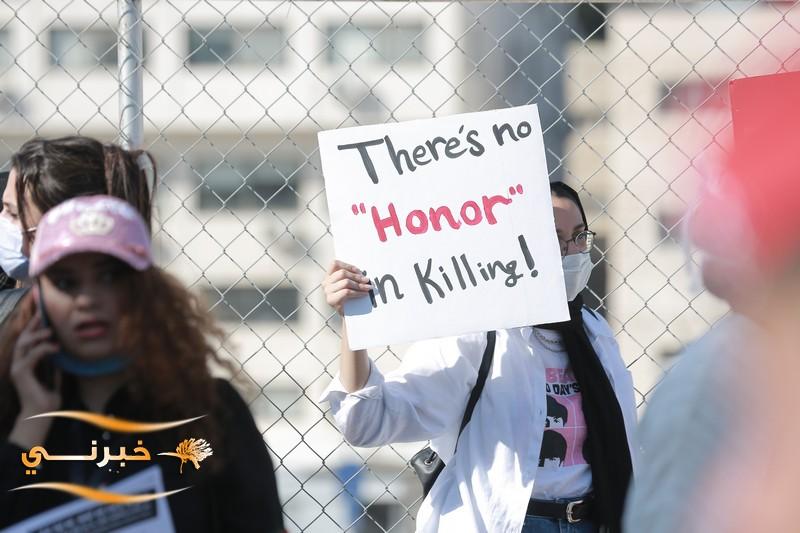 احتجاج على الجرائم ضد النساء امام النواب - صور