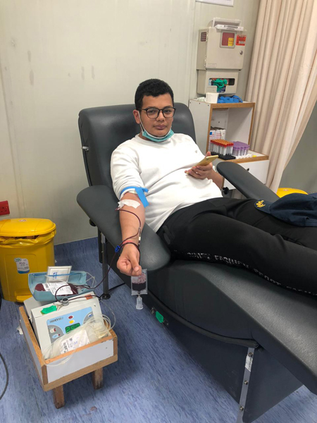 (قدها و قدود) يطلق حملة للتبرع بالدم
