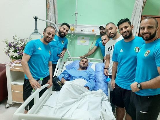 تهنئة بالشفاء للكابتن محمد عربيات