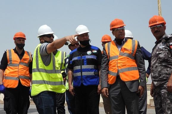 الدكتور النسور يطلع محافظ الكرك والمجلس الأمني على أعمال البوتاس العربية
