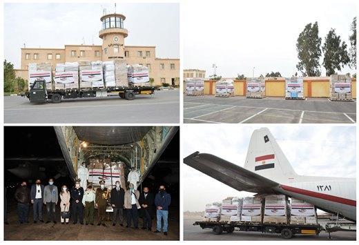 طائرة مساعدات مصرية للأردن