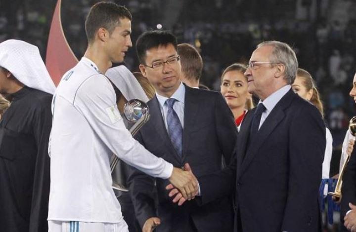 رئيس ريال مدريد التقي رونالدو في إيطاليا