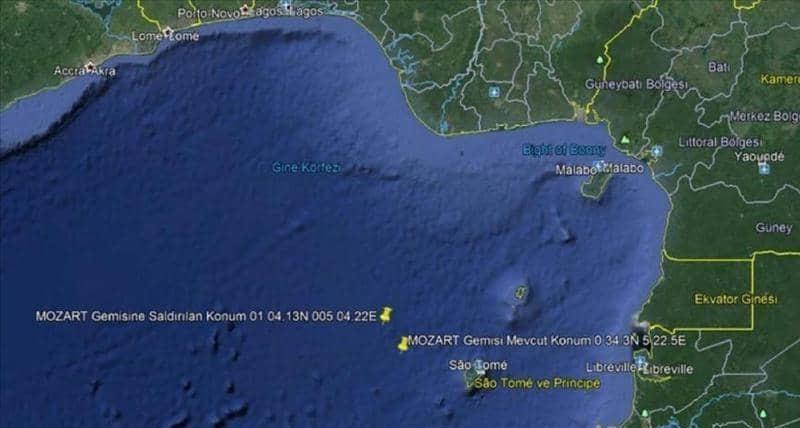 قراصنة يهاجمون سفينة تركية