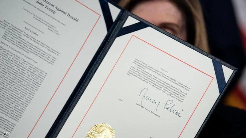 النواب الأميركي يسلم الشيوخ لائحة اتهام ترامب