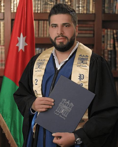 الجدة سهاد المعايطة تبارك لحفيدها عدنان بمناسبة تخرجه