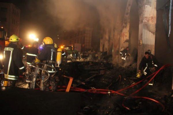 9 اصابات إثر حريق مطعم بالزرقاء