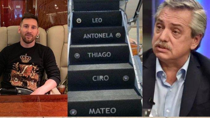 رئيس الأرجنتين يستأجر طائرة ميسي لإجراء زيارة