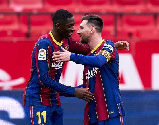 ميسي يقود برشلونة لعبور فخ إشبيلية