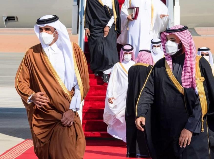 أمير قطر يهاتف ابن سلمان