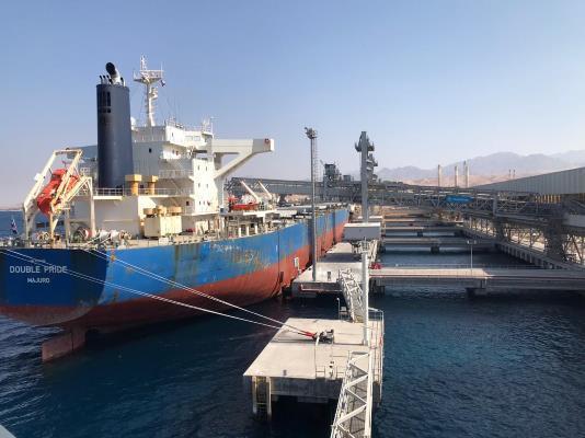تصدير أكبر شحنة بوتاس بتاريخ الأردن