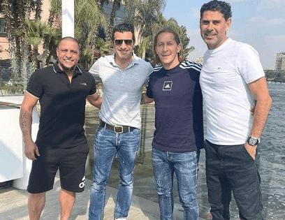 نجوم ريال مدريد يتجولون في مصر