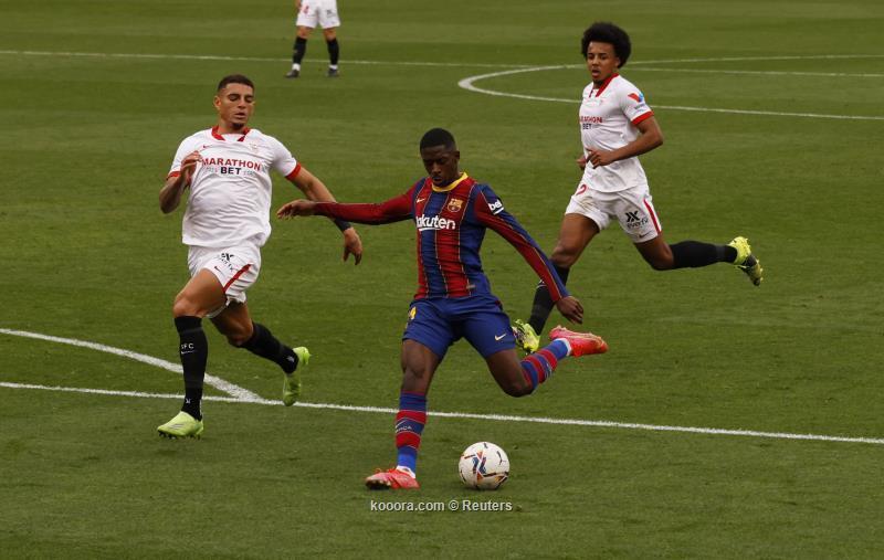 برشلونة يواجه إشبيلية بالقوة الضاربة