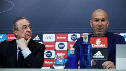 بيريز يبلغ زيدان بمصيره مع ريال مدريد