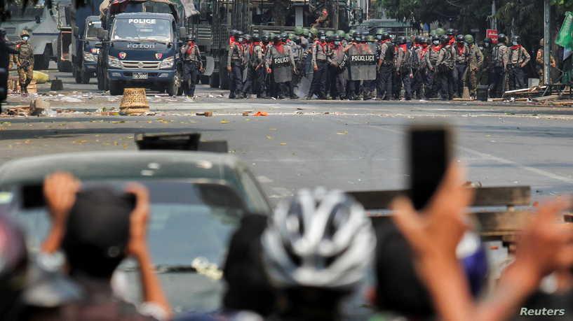مقتل 7 متظاهرين برصاص قوات الأمن في ميانمار