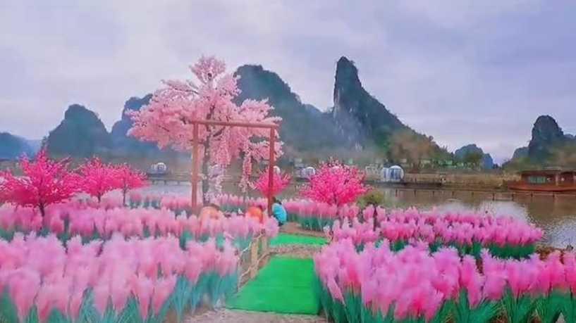 صيني ينفق كل ما يملك لبناء حديقة يهديها لمحبوبته