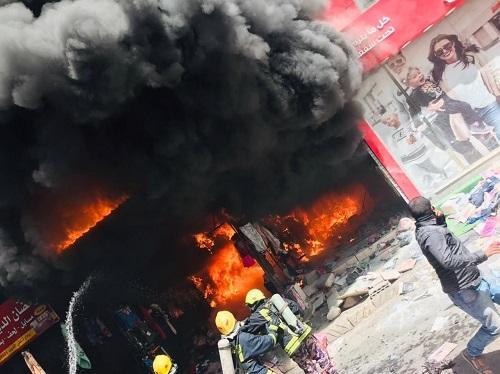 حريق ضخم بمستودع في العقبة