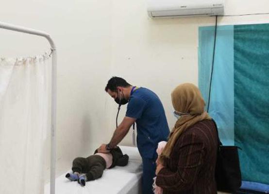 المستشفى الميداني الأردني في غزة / 66 يباشر أعماله