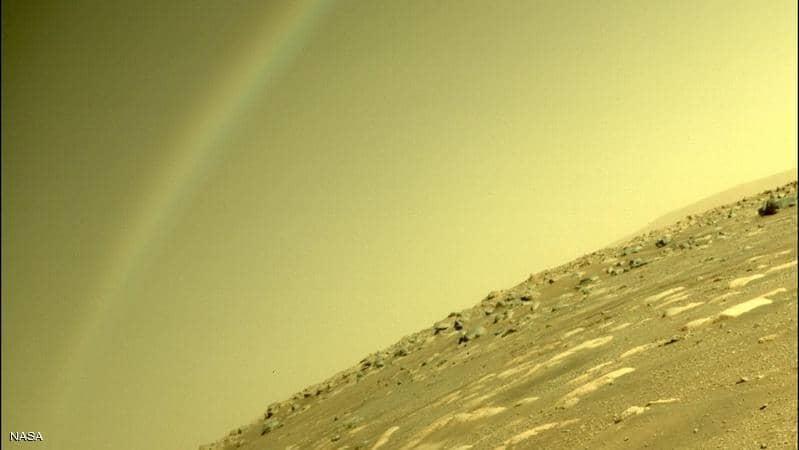 ناسا توضح حقيقة صورة قوس قزح على المريخ