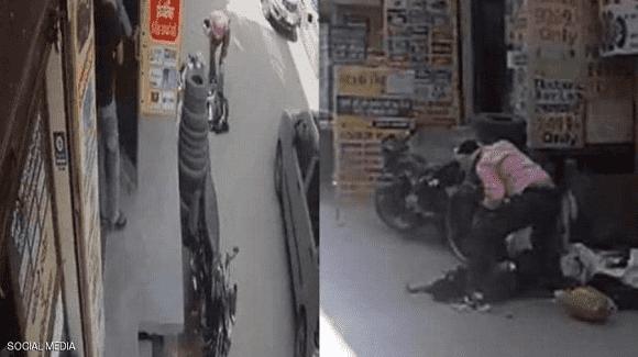 هندي يقتل زوجته بطريقة بشعة.. والكاميرا وثقت الجريمة كاملة