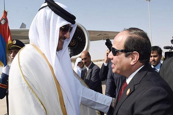 اتصال هاتفي بين أمير قطر والسيسي