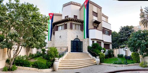 السفارة الأردنية في القاهرة تحتفل بيوم العلم الأردني