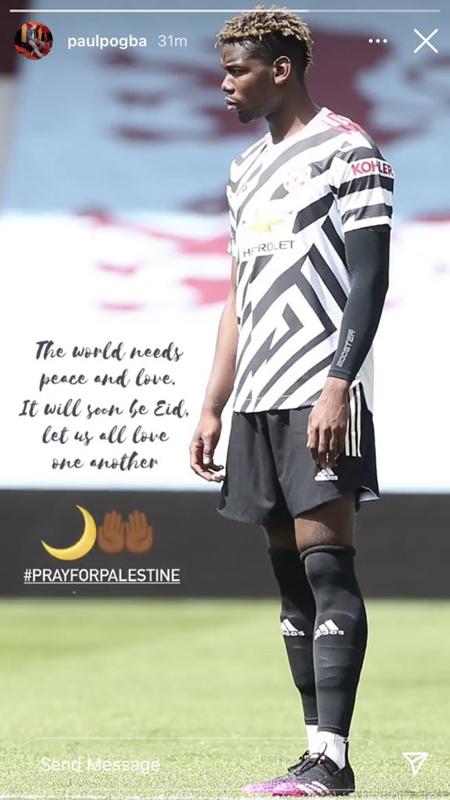 بوغبا يدعو لفلسطين