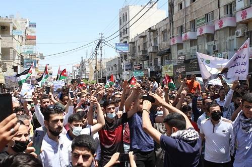 إربد: مسيرة تضامنية لنصرة القدس وغزة - صور