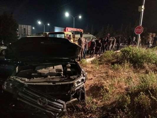 10 إصابات بتصادم على طريق البحر الميت