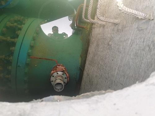 ضبط اعتداء على مزود المياه لمحافظات الشمال