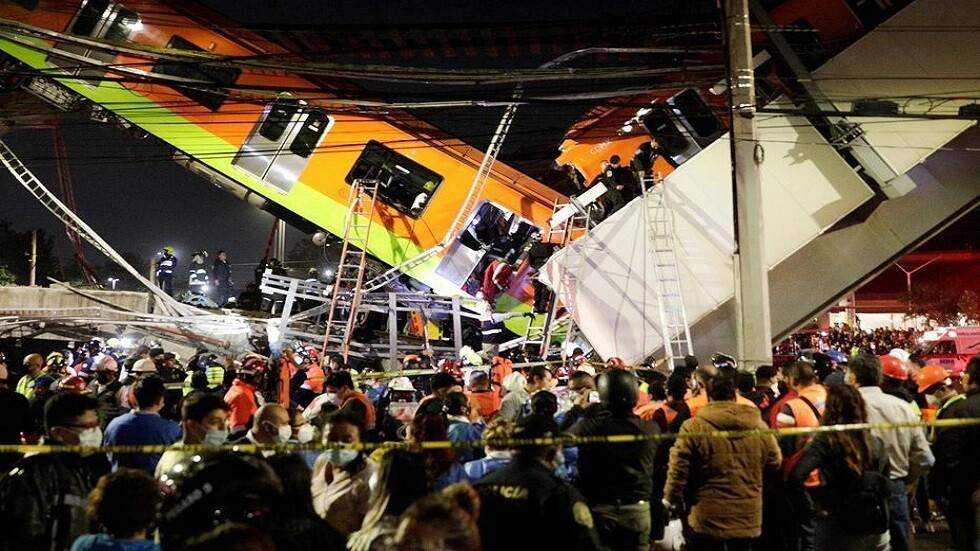 المكسيك.. 15 قتلا بانهيار جسر - فيديو