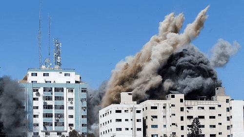 اسرائيل: برج الجلاء كان يضم مكاتب لمخابرات حماس