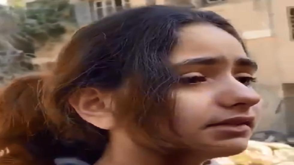 فتاة فلسطينية تجسد معاناة شعبها بدموع - فيديو