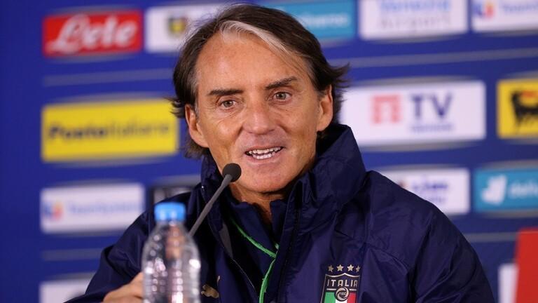 مانشيني يمدد عقده مع المنتخب الإيطالي