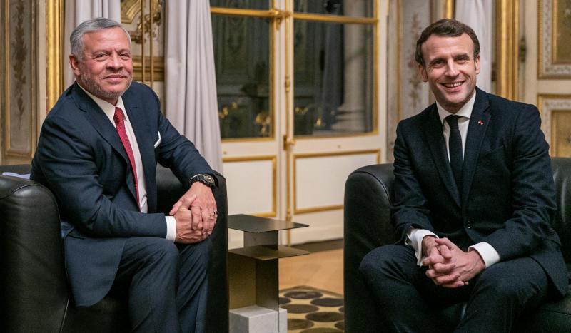 مباحثات بين الملك وماكرون والسيسي لأجل غزة