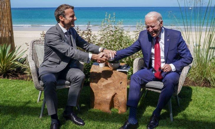 ماكرون: أميركا مع بايدن عادت زعيمة متعاونة للعالم الحر