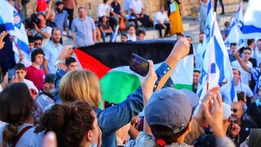 من هي التونسية التي رفعت علم فلسطين وسط مسيرة الأعلام؟