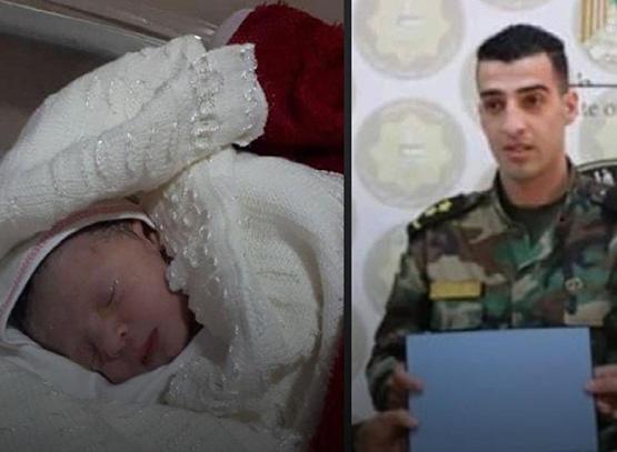 بعد 8 أيام على استشهاده.. فلسطيني يرزق بمولودة