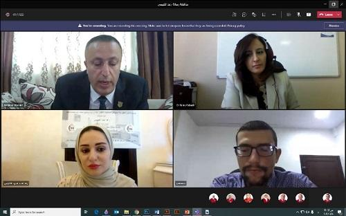 مناقشة رسالة الماجستير الأولى بالتصميم الداخلي في جامعة عمان الاهلية
