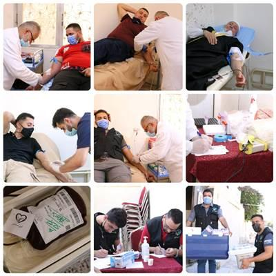 فريق (نسمة خير) يقيم حملة للتبرع بالدم لمرضى السرطان