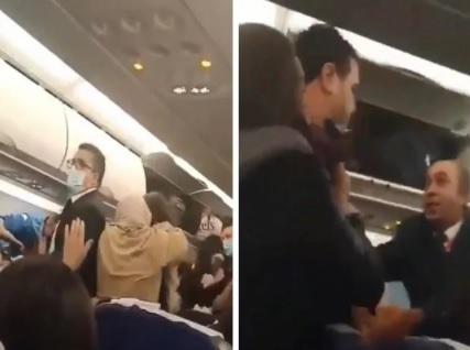 تفاصيل مشاجرة عنيفة بين سيدتين على متن رحلة مصرية