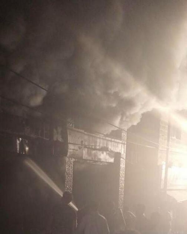 5 اصابات بحريق في صويلح