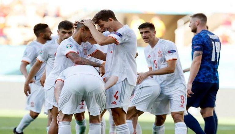 يورو 2020.. إسبانيا تنتزع بطاقة التأهل بخماسية