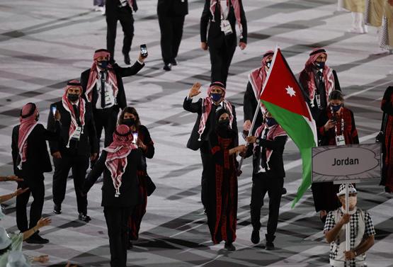 البعثة الأردنية تشارك في حفل افتتاح الأولمبياد -